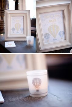 Vintage Circus Inspired Baby Shower in Yellow and Gray