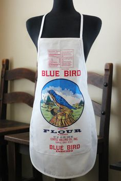 Blue Bird Flour Bag Apron by shimasnavajojewelry on Etsy, $25.00
