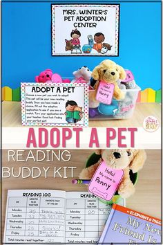 Get Kindergarten, 1st, and 2nd grade students excited about reading by giving them an opportunity to ADOPT A PET! Along with their reading buddy, students can set reading goals and track their progress with the included reading log! This resource includes everything you need to set up and manage a pet adoption center.