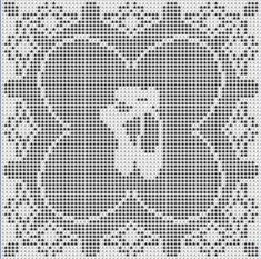Digital PDF Filet Crochet Pattern Petite Ballet by CrochetMyStyle
