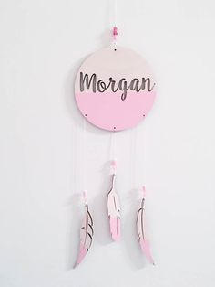 Personalized dream catcher wall hung laser cut birch wood custom dream catcher sign boho nursery wall decor