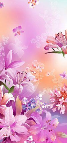Scenery Wallpaper, Flower Wallpaper, Wallpaper Backgrounds, Phone Wallpaper Design, Wallpaper Designs, Pretty Wallpapers, Iphone Wallpapers, Pink Love, Pattern Art