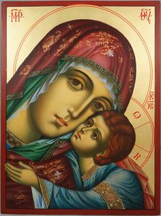Virgin of Tenderness Hand-Painted Orthodox Icon