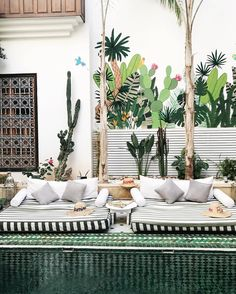 Pooside at Le Riad Yasmine in Marrakech Morocco