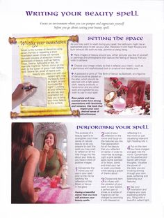 Writing your beauty spell