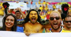 Colombia fans cheer before the team's 2014 World Cup Group C soccer match against Ivory Coast at the Brasilia national stadium in Brasilia June 19, 2014. REUTERS/Paul Hanna