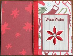 Hand Made, Christmas, Greeting, Cards, Warm Wishes by LibbysCraftStudio on Etsy