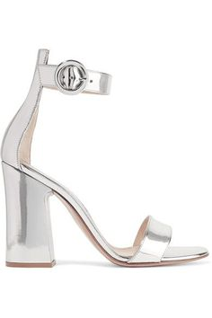 e6a1186c1ec Gianvito Rossi - Portofino metallic leather sandals