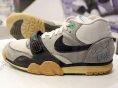 The original Air Trainer I worn and signed by John McEnroe