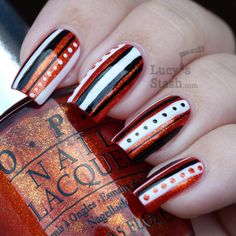 50 Best Striped Nails Images On Pinterest Nail Stripes Striped