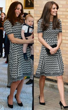 Tory Burch Paulina Dress from the Duchess of Cambridge's Recycled Looks This Tory Burch dress sold out everywhere after Kate sported it with Prince George in New Zealand, so naturally a look this good needed to be repeated. Looks Kate Middleton, Kate Middleton Dress, Alexander Mcqueen Dresses, Prince William And Kate, Princess Charlotte, Glamour, Royal Fashion, Duchess Of Cambridge, Day Dresses
