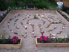 A stone and sand labyrinth by Backyard Labyrinths