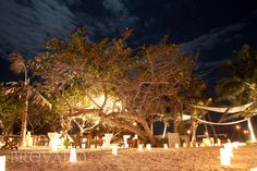 Amazing night time photo at a beach wedding in Tulum, Mexico