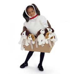 Dog and Puppies in a Box Halloween Costume