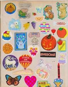 One thing I loved about the 1980s...stickers!