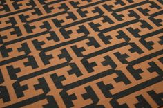 "(Click pic to view larger )Genevieve Gourder for Capel Rugs. ""The Greek Rug"" geometric rug in the color of the hour. wwwcapel.com 305 W. High St Mkt Sq Suite 112. #hpmarket"