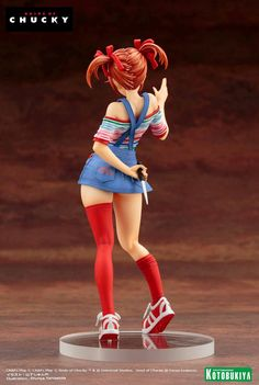 Official Photos of the Child's Play Chucky Bishoujo Statue - The Toyark - News Bishoujo Statue, Childs Play Chucky, Bride Of Chucky, Mode Kawaii, Horror Movie Characters, Anatomy Poses, Pose Reference Photo, Classic Horror Movies, Anime Figurines
