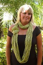 Aloha Crochet Scarf and Flower Pattern