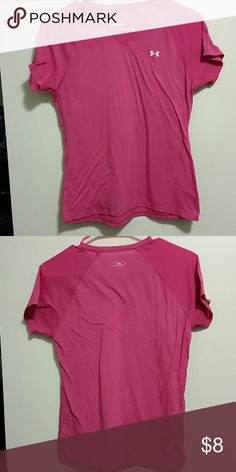 Under Armour tshirt small Tshirt has been laundered but likes to stick to itself. Cant tell if its ever been worn. Under Armour products are very well made with quality material.  Ive kept some for myself.   Bundle with some other products for discount. Under Armour Tops Tees - Short Sleeve