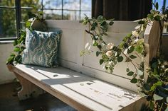Brunch Morning Wedding ~ Sunday Kind of Love.  Rustic Vintage Benches by Rent My Dust