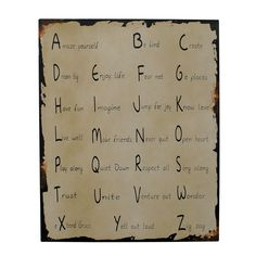 "Attraction Design Home ""Amaze Yourself Be Kind Create"" Antique Wisdom Sign Wall Décor"