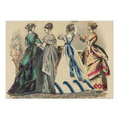 Vintage Kleidung - ein angenehmer Nachmittag Plakatdrucke