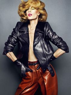 Natasa Vojnovic by Txeme Yeste for Tush - Acne leather jacket, 3.1 Phillip Lim leather pants