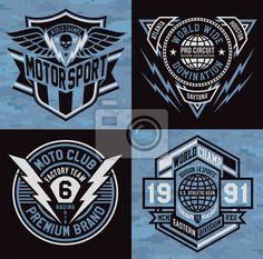 Fotomural emblema Deportes conjunto cresta gráfico
