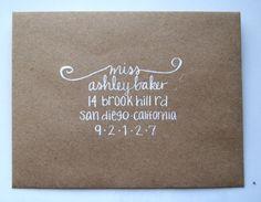 sweet way to address envelopes