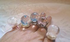 handmade snow globe rings