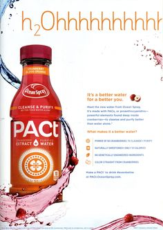 4. Ocean Spray PACt beverage Source: Glamour, Oct. 2015. 169.