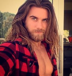Who doesn't love Brock O'Hurn? This man in flannel...*drool*. He's also a ringer for our sexy mountain hermit, James.