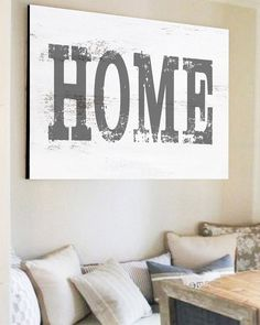 Rustic Home Sign - Farmhouse Style Home Sign