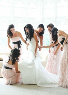 You'll always treasure the photos of you and your bridesmaids on your wedding day. These sweet and sassy ideas are sure to have you smiling for years to come.