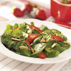 Strawberry Spinach Salad Recipe from Taste of Home