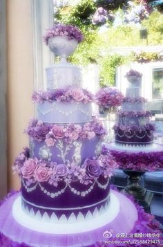 Purple cake. I like the ombré and the design but would like it in a different color...maybe mint, or pink, or cream to white...
