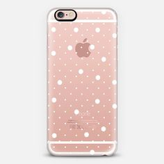 Pin Point Polka Dots White Transparent - Classic Snap Case **$10 off and FREE shipping with code 5UUFAR**