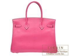 Hermes Birkin bag 30 Rose shocking