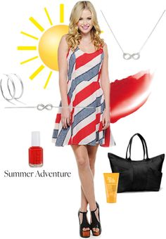 """summer adventure"" by finksjewelers on Polyvore"