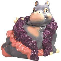 Alluring hippo cookie jar