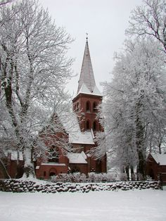 Winter Church. Toitenwinkel, Mecklenburg, Germany