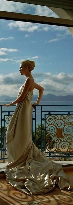 The view from my villa. Natasha Poly, Susan Sontag, Perm, Glamour, Luxe Life, Mademoiselle, Dior Couture, High Society, Silver Dress