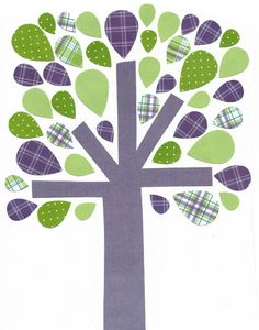 Purple and Green Nursery Artwork Print // by 3000yardsofthread, $14.00