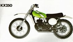 Looking back over six decades of Kawasaki Dirt Bike history, there have been many machines that pushed the boundaries of technology. Motocross Bikes, Vintage Motocross, Sport Bikes, Mx Bikes, Vintage Bikes, Vintage Motorcycles, Harley Davidson Motorcycles, Retro Bikes, Kawasaki Dirt Bikes