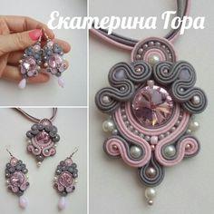 Soutache Pendant, Soutache Necklace, Boho Jewelry, Jewelery, Handmade Necklaces, Handmade Jewelry, Tree Of Life Jewelry, Shibori, Button Crafts