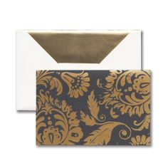 Graphite Paisley: A metallic pattern makes a bold statement on this note. Gold foil takes a hit of distress and makes a splash on rich hues, creating a look both sharp and current.