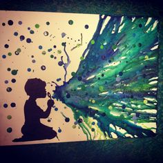Little boy blowing bubbles melted crayon art Crayon Crafts, Crayon Art, Art Crafts, Art Projects For Teens, Art For Kids, Spring Arts And Crafts, Blow Paint, Dark Art Photography, Jesus Art