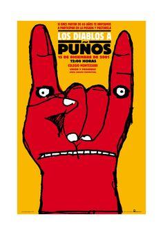 """Alejandro Magallanes. Los Diablos a Puños. """"Latin american Posters"""". Bienal del Cartel Bolivia BICeBé® 2013"""