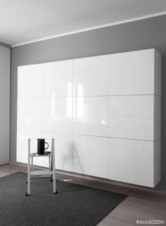 Stauraum - Home Storage Ideas Small Space Bedroom, Small Rooms, Small Spaces, Ikea Office Storage, Bedroom Storage, Ikea Bedroom, Office Organization, Organizing Ideas, Bedroom Furniture