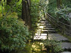 Stairway near the Sand and Stone Garden   Portland Japanese Garden, Portland